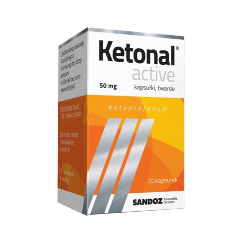 Ketonal Active kaps.twarde 0,05 g 20 kaps.