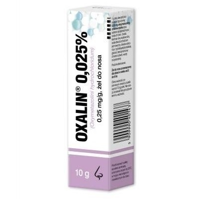Oxalin 0.025% żel do nosa 10 g flakon