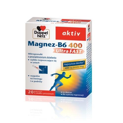 Doppelherz aktiv Magnez-B6 UltraFAST 20sas