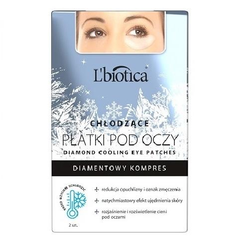 L'BIOTICA Płatki p/oczy Diamond hydro-2szt