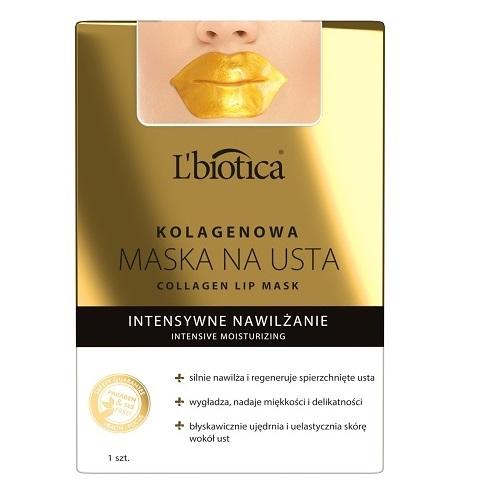 L'BIOTICA Kolagenowa maska na usta 1szt.