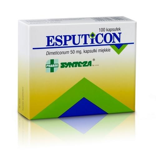 Esputicon p/gazom i wzd.kaps. 0.05g 100szt