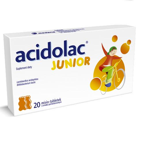 Acidolac Junior o sm.pomarańczowym 20tabl.