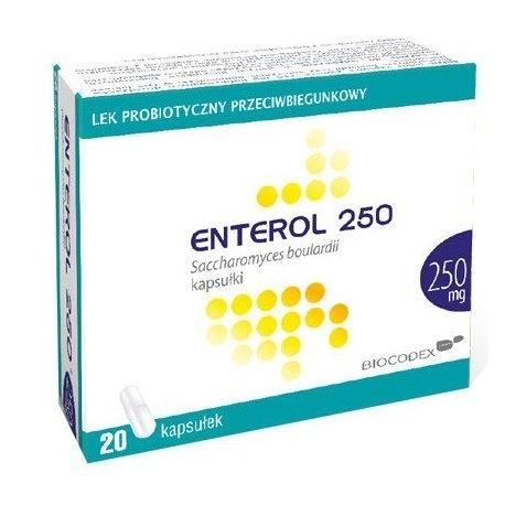 Enterol 250 kaps. 0,25 g 20 kaps.