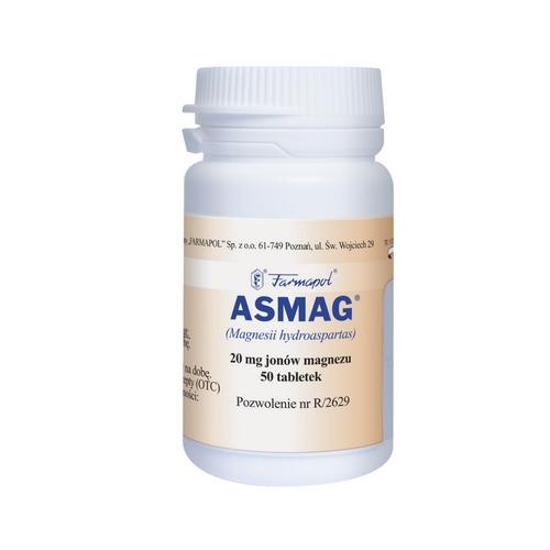Asmag tabl. 0,02 g Mg2+ 50 tabl. | Apteka internetowa, antyperspirant, avent, bioderma, bioliq, canpol, cera trądzikowa preparaty, dermokosmetyki, geriavit, grzybica leki bez recepty, himalaya, kreon, leki bez recepty, leki na grypę, leki na przeziębienie, leki na uspokojenie, mascara med., maxigra go, maxon, mensil, mugga, mustela, odchudzanie leki, odporność, pirolam, tabletki na ból gardła, test ciążowy, tran mollers, vichy, witamina d, wszy preparaty, zapalenie stawów, zestawy kosmetyków, ziaja