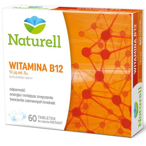 NATURELL Witamina B12 0,01mg 60 tab.d/ssa.