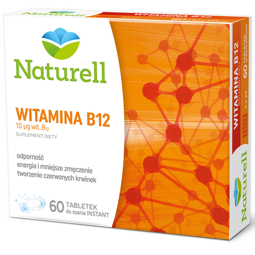 NATURELL Witamina B12 0,01mg 60 tab.d/ssa.