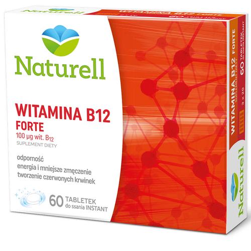 NATURELL Witamina B12 Forte 60 tab.d/ssan.