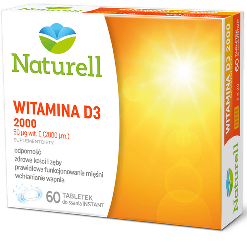 NATURELL Witamina D3 2000 60 tabl.d/ssania