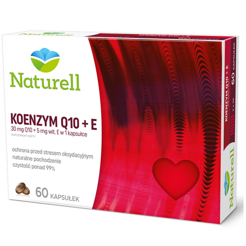 NATURELL Koenzym Q-10+E kaps. 0,03g 60kaps