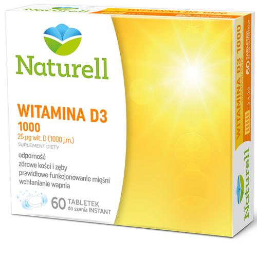 NATURELL Witamina D3 1000 60 tabl.d/ssania