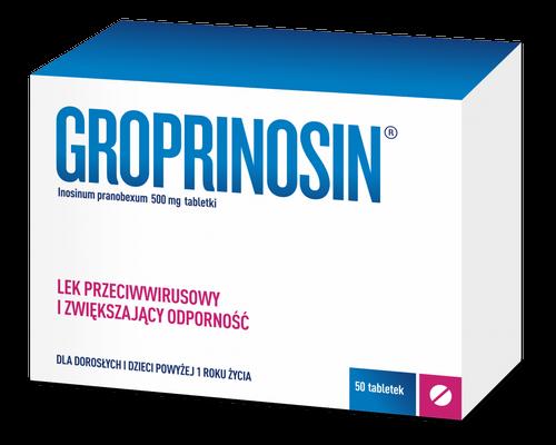 Groprinosin tabl. 0,5 g 50 tabl.