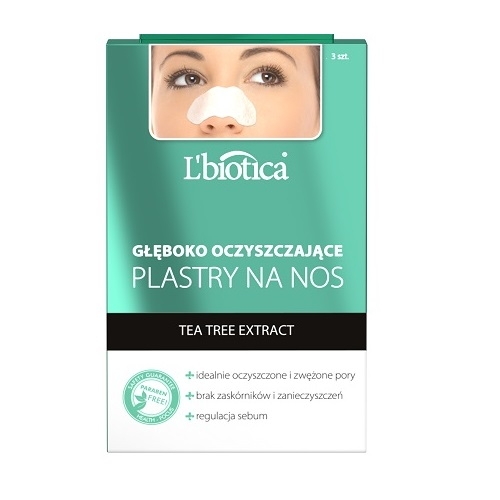 L'BIOTICA Plastry n/nos Tea tree 3 szt
