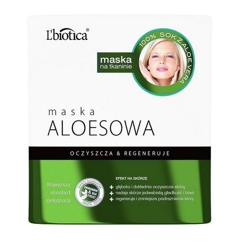 L'BIOTICA Maska Aloes na tkaninie 23 ml