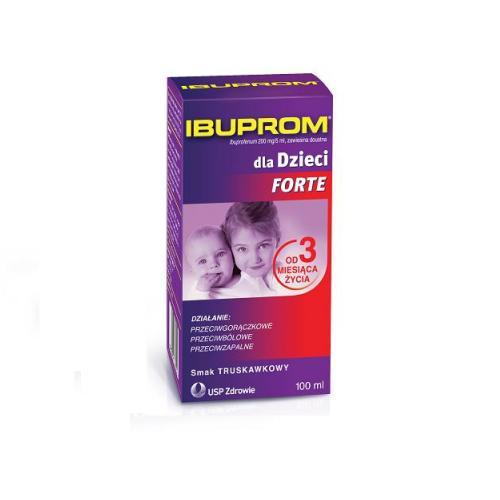 Ibuprom dla Dzieci Forte zaw.doust. 100 ml
