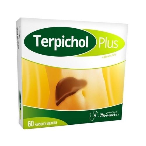 Terpichol Plus kaps.miękkie 60kaps.(2x30)