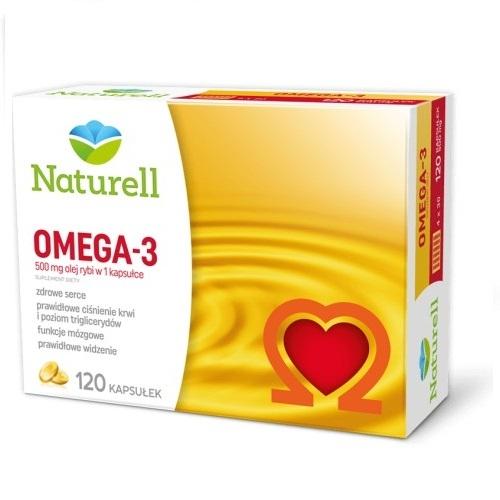 NATURELL Omega-3 kaps. 0,5 g 120 kaps. | Apteka internetowa, antyperspirant, avent, bioderma, bioliq, canpol, cera trądzikowa preparaty, dermokosmetyki, geriavit, grzybica leki bez recepty, himalaya, kreon, leki bez recepty, leki na grypę, leki na przeziębienie, leki na uspokojenie, mascara med., maxigra go, maxon, mensil, mugga, mustela, odchudzanie leki, odporność, pirolam, tabletki na ból gardła, test ciążowy, tran mollers, vichy, witamina d, wszy preparaty, zapalenie stawów, zestawy kosmetyków, ziaja