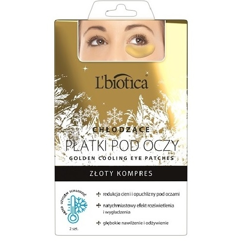 L'BIOTICA Płatki p/oczy Gold hydro- 2 szt