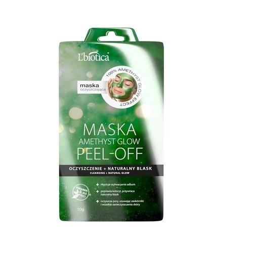 L'BIOTICA PEEL- OFF Maska Ametyst Glow 10g