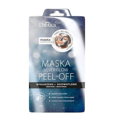 L'BIOTICA PEEL- OFF Maska Silver Glow 10g