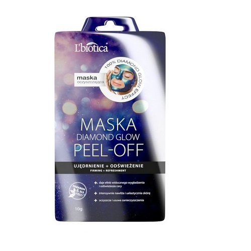 L'BIOTICA PEEL- OFF Maska Diamond Glow 10g