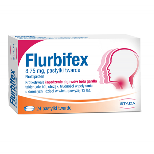 Flurbifex pastyl.twarde 8,75 mg 24 szt.