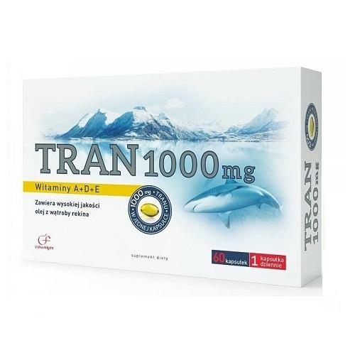 Tran 1000 mg kaps. 1 g 60 kaps.COLFARM