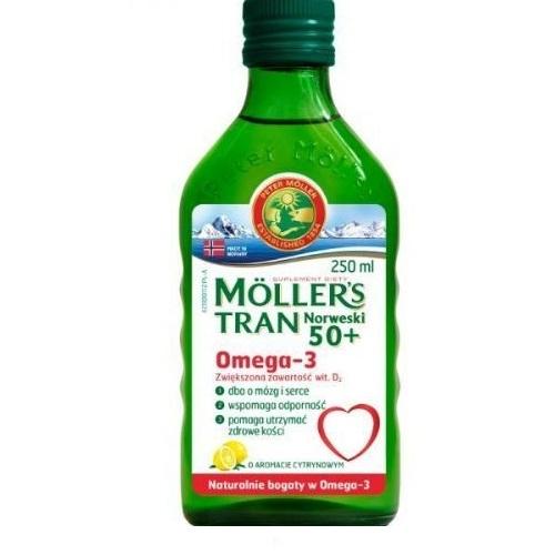 Tran MOLLERS norw.50+ płyn cytr. 250 ml