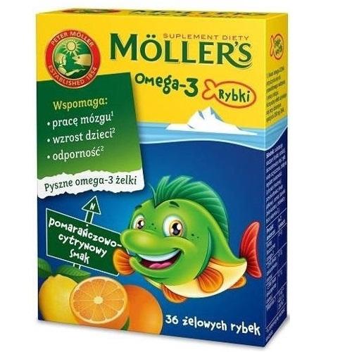 Mollers Omega-3 Rybki pom.-cytr.żelki 36sz