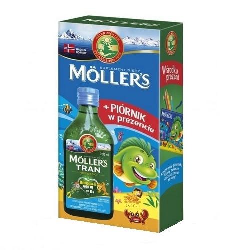 Tran MOLLERS norw. owoc.+piórnik 250 ml