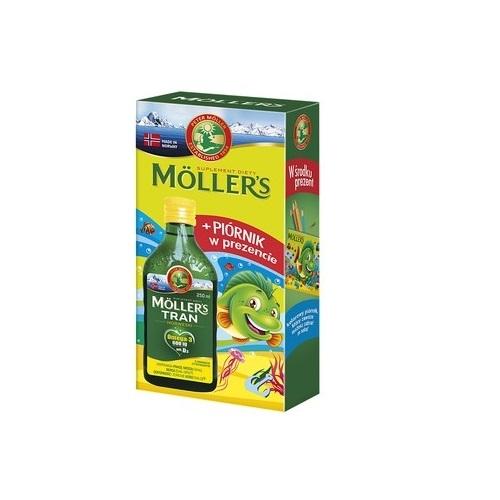 Tran MOLLERS norw. cytryn.+piórnik 250ml
