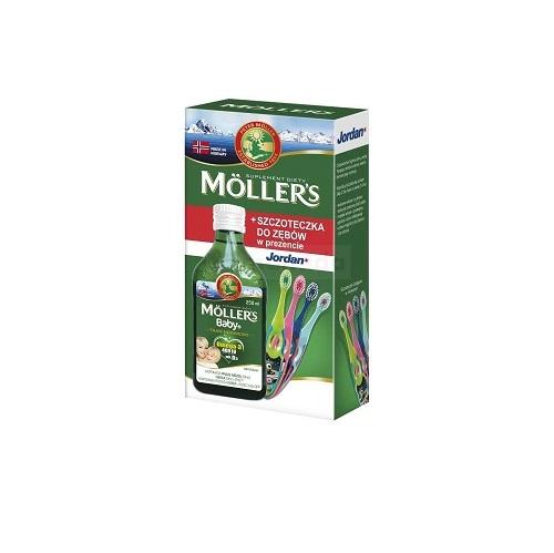 Tran MOLLERS norw.baby+Natur.+szczot.250ml