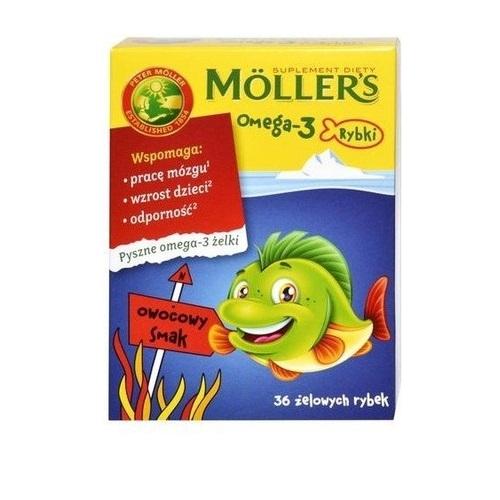MOLLERS Omega-3 Rybki kaps. 36szt.
