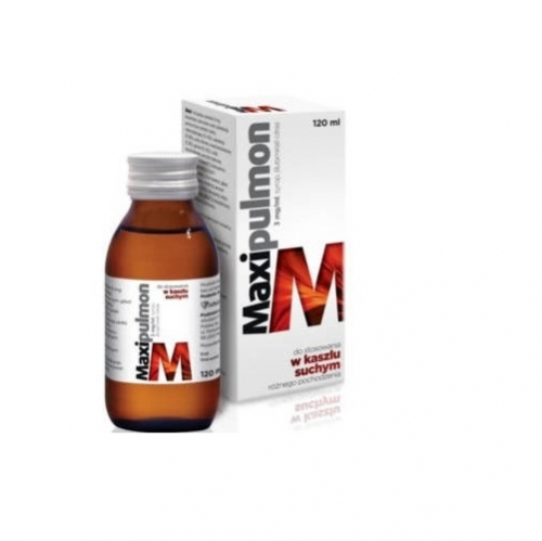 Maxipulmon syrop 3 mg/ml 120 ml | Apteka internetowa, antyperspirant, avent, bioderma, bioliq, canpol, cera trądzikowa preparaty, dermokosmetyki, geriavit, grzybica leki bez recepty, himalaya, kreon, leki bez recepty, leki na grypę, leki na przeziębienie, leki na uspokojenie, mascara med., maxigra go, maxon, mensil, mugga, mustela, odchudzanie leki, odporność, pirolam, tabletki na ból gardła, test ciążowy, tran mollers, vichy, witamina d, wszy preparaty, zapalenie stawów, zestawy kosmetyków, ziaja