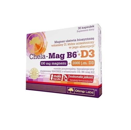 Olimp Chela-Mag B6+D3 kaps. 30 kaps.