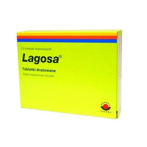 Lagosa tabl.drażow. 0,15 g 25 draż.IR