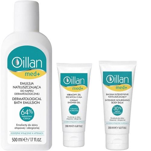 OILLAN MED+ Zest.Emulsja+żel+balsam 3szt