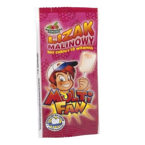 Multifan Lizak +10 witam. sm.malin. 1 szt.