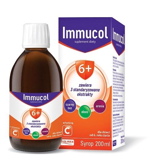 Immucol 6+ syrop 200 ml | Apteka internetowa, antyperspirant, avent, bioderma, bioliq, canpol, cera trądzikowa preparaty, dermokosmetyki, geriavit, grzybica leki bez recepty, himalaya, kreon, leki bez recepty, leki na grypę, leki na przeziębienie, leki na uspokojenie, mascara med., maxigra go, maxon, mensil, mugga, mustela, odchudzanie leki, odporność, pirolam, tabletki na ból gardła, test ciążowy, tran mollers, vichy, witamina d, wszy preparaty, zapalenie stawów, zestawy kosmetyków, ziaja