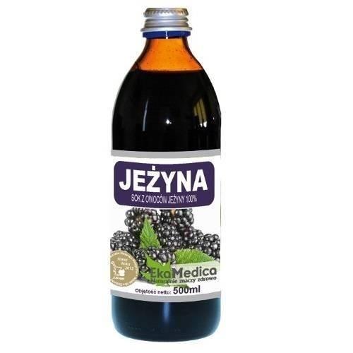 EkaMedica Jeżyna sok 100 % 0,5 l