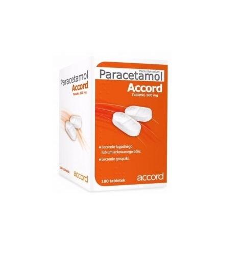 Paracetamol Accord tabl. 0,5 g 50 tabl.