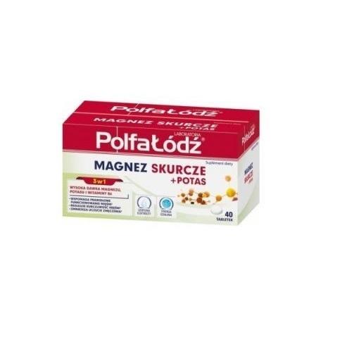 Laborat. Polfa Łódź MAGNEZ SKUR.+POT.40t