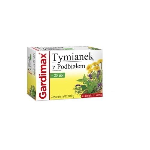 Gardimax Tymianek z Podb.+20 ziół 24 past. | Apteka internetowa, antyperspirant, avent, bioderma, bioliq, canpol, cera trądzikowa preparaty, dermokosmetyki, geriavit, grzybica leki bez recepty, himalaya, kreon, leki bez recepty, leki na grypę, leki na przeziębienie, leki na uspokojenie, mascara med., maxigra go, maxon, mensil, mugga, mustela, odchudzanie leki, odporność, pirolam, tabletki na ból gardła, test ciążowy, tran mollers, vichy, witamina d, wszy preparaty, zapalenie stawów, zestawy kosmetyków, ziaja