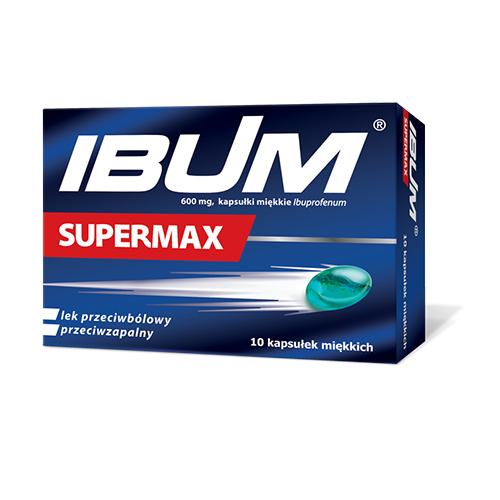 Ibum Supermax kaps.miękkie 0,6g 10 kaps.