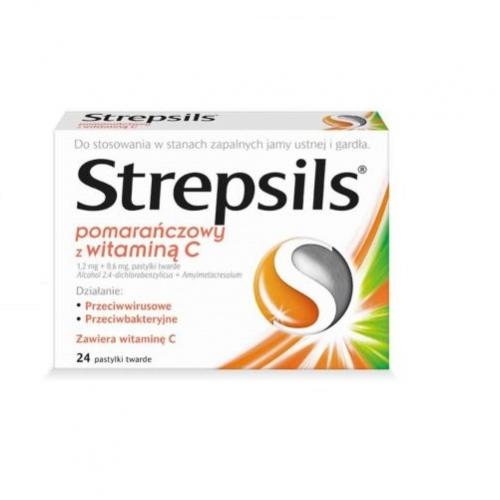 Strepsils pomar. z vit.C d/ssan. 24 past.