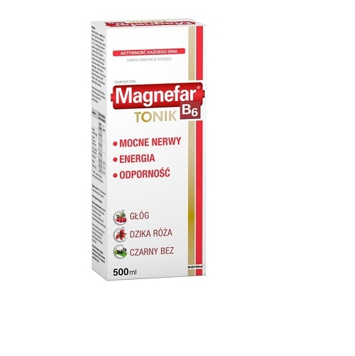 Magnefar B6 Tonik płyn 500 ml (kart.)