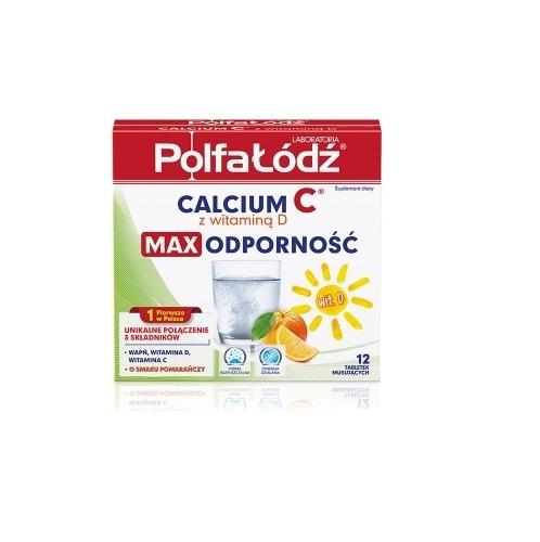 Calcium C z miodem Lab.PolfaŁódź 12tab.mus