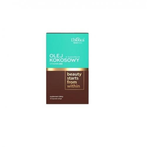 L'biotica Olej Kokosowy + Vit. D3 kaps.30s