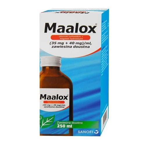 Maalox zaw.doust. (0,035g+0,04g)/ml 250 ml