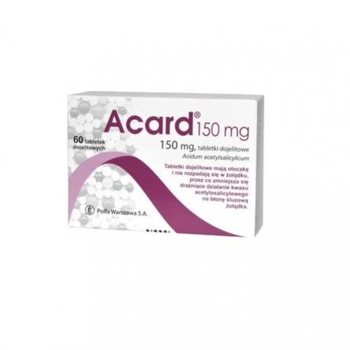 Acard 150 mg tabl.dojelit. 0,15 g 60 tabl.